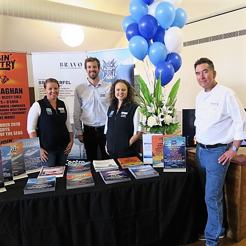 Cruise Expo 2018 Zara Henderson; Ashley Eather; Rebecca Duff; Peter Shepherd
